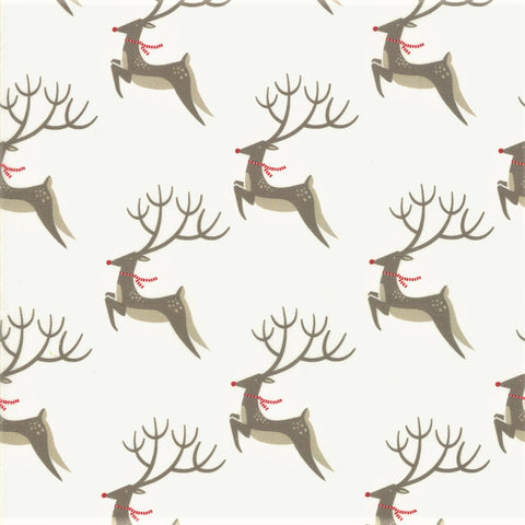Moda Northern Light 16731 11 Snow Oh Deer By The Yard