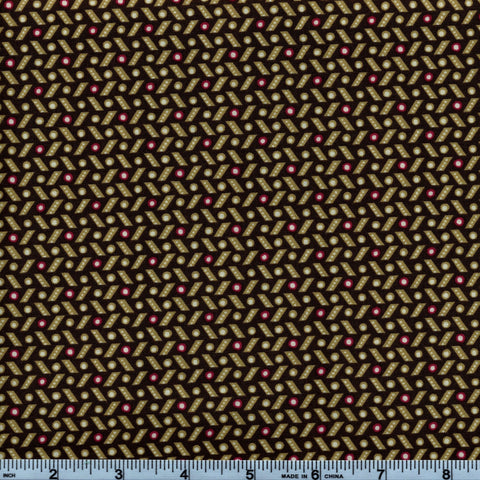 RJR Fabrics Briarcliff 1673 5 Brown Dash & Spot By The Yard
