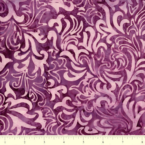 Anthology Batik 16754 Ornamental Design On Purple By The Yard