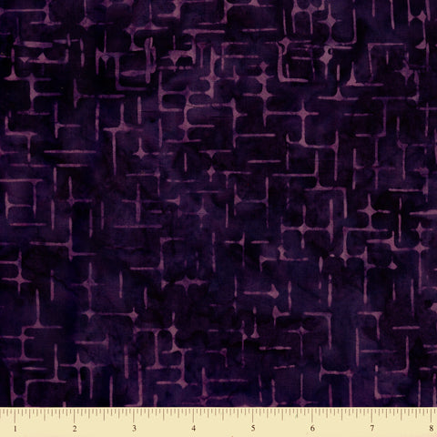 Anthology Batik 16759 Abstract Lines On Purple By The Yard