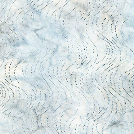 Robert Kaufman Dot Dot Dot 2 Batiks 16807 186 Silver Waves of Wind By The Yard