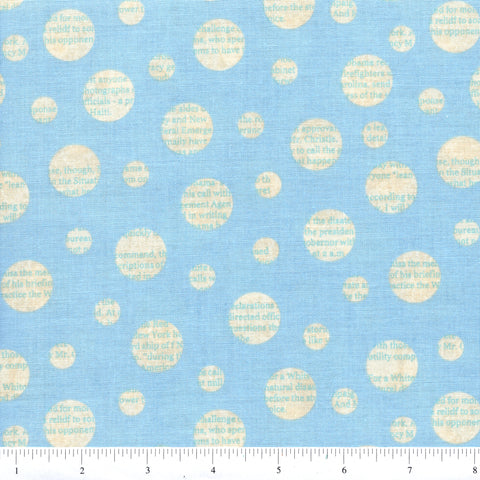 RJR Fabrics Adventures 1680 1 Word Bubbles On Blue By The Yard