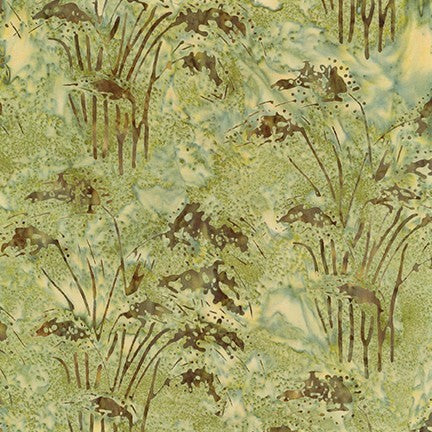Kaufman Artisan Batiks Inspired By Nature 19178 49 Olive Fountain Grass By The Yard