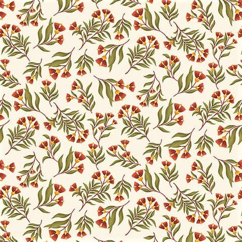 Henry Glass & Co. Far Horizons 1728 8 Cream Floral Vine By The Yard