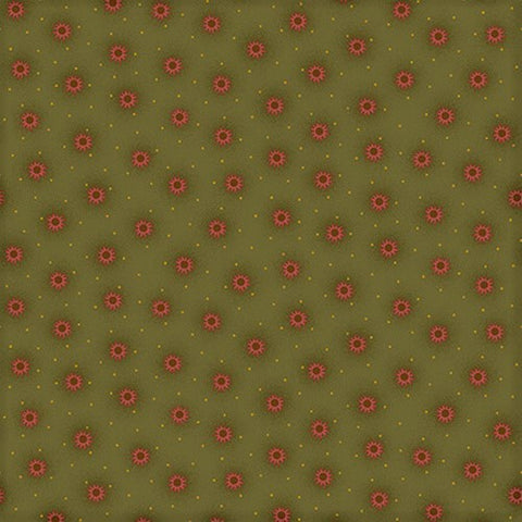 Henry Glass & Co. Far Horizons 1729 66 Green Small Star Burst By The Yard