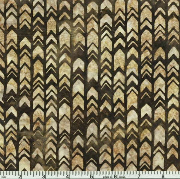Kaufman Texture Study 4 Batiks 17809 169 Earth Chevron Arrowhead By The Yard