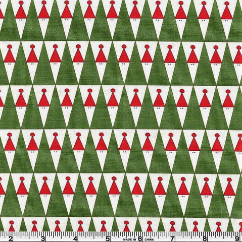 Moda Eat Drink Be Ugly 17922 13 Vanilla Peeking Santas By The Yard