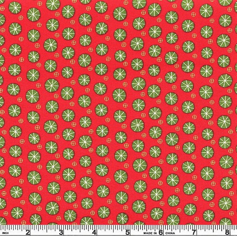 Moda Eat Drink Be Ugly 17926 11 Red Snowflake Balls By The Yard