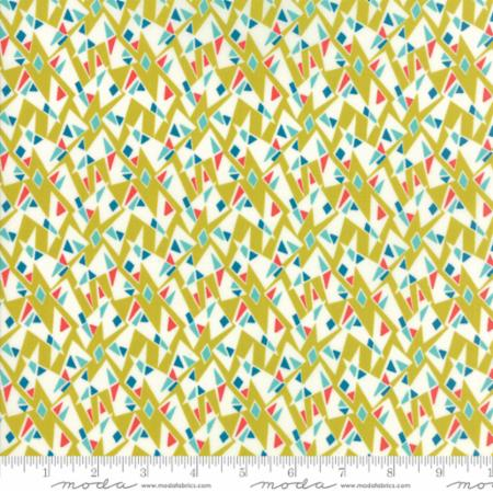 Moda Beach Road 18140 11 Geo Mosaic Chartreuse By The Yard