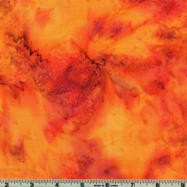 Anthology Batik Lava Basics 1817 Caliente Watercolor By The Yard