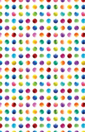 Moda Gradients 33368 11D Dots of Rainbow Feathers By The Yard