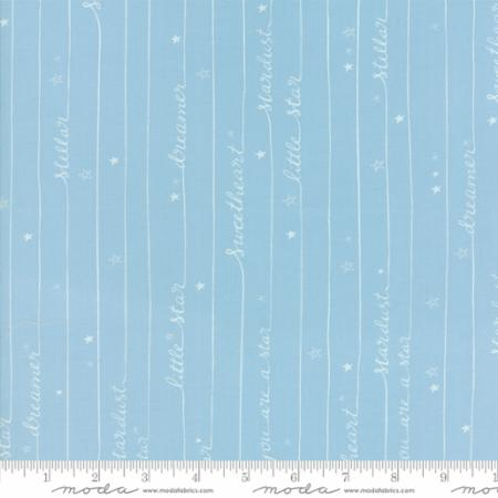 Moda Fabrics Stellar Baby 35325 14 Writing In Stars Sky Blue By The Yard
