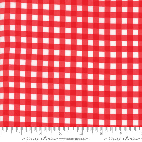 Moda Vintage Holiday 55164 11 Cheery Red Gingham By The Yard