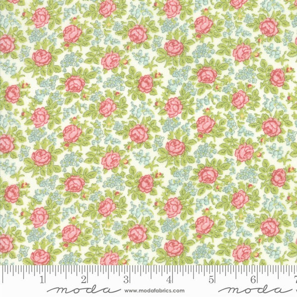 Moda Bramble Cottage 18694 11 Linen Bramble of Roses By The Yard