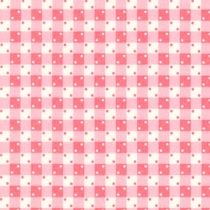 Kaufman Darlene's Favorites 18755 122 Camellia Dice Gingham By The Yard