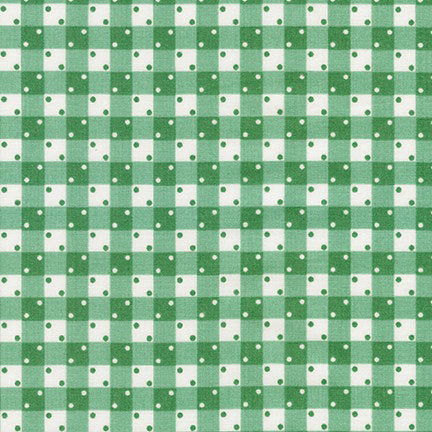 Kaufman Darlene's Favorites 18755 58 Cactus Dice Gingham By The Yard