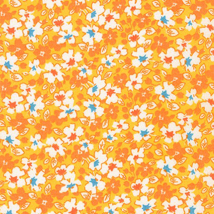 Kaufman Darlene's Favorites 18758 140 Screamin' Yellow Flora Frenzy By The Yard