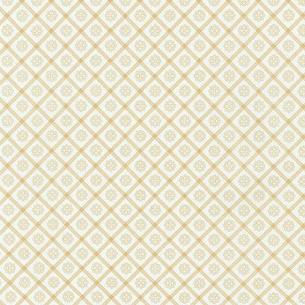 Kaufman Chesterfield 18865 15 Ivory Floral Check By The Yard