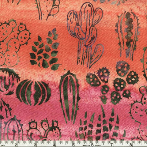 Kaufman Artisan Batiks Desertscapes 19166 106 Blossom Cactus Varieties By The Yard