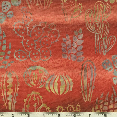 Kaufman Artisan Batiks Desertscapes 19166 115 Cayenne Cactus Varieties By The Yard