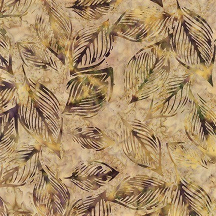 Kaufman Artisan Batiks Inspired By Nature 19175 163 Spice Loose Leaf By The Yard