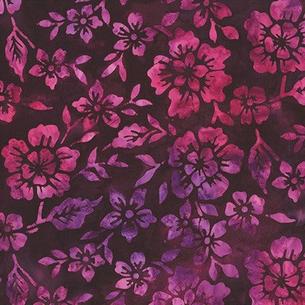 Kaufman Artisan Batiks Waiting For The Sun 19375 413 Noble Purple Floral Groove By The Yard