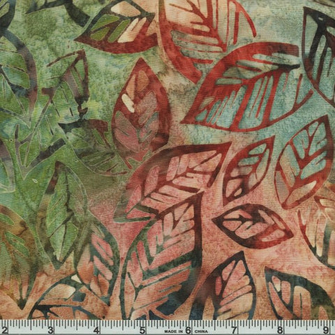 Kaufman Artisan Batiks By The Brook 19397 268 Nature Brookside Leaves By The Yard