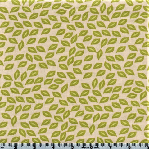 RJR Kitschy Kawaii 1947 1 All Over Green Leaves By The Yard