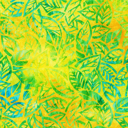Kaufman Artisan Batiks Summer Zest 19534 50 Lime Leaves By The Yard