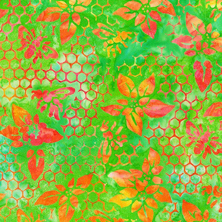 Kaufman Artisan Batiks Summer Zest 19536 50 Lime Honeycomb By The Yard