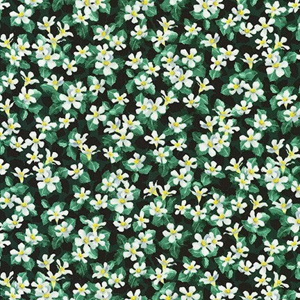 Kaufman Gardenia Party 19632 224 Evergreen Flower Cover By The Yard