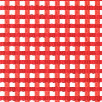 Kaufman Chow Time 19788 116 Tomato Gingham By The Yard