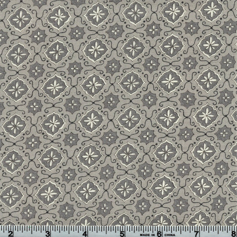 Moda Fabrics Homegrown 19825 14 Granny's Wallpaper Pewter Grey By The Yard