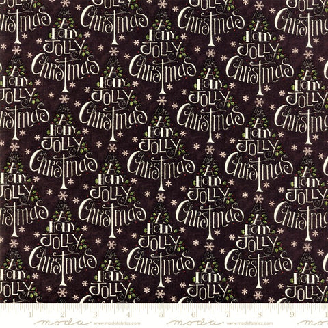 Moda Hearthside Holiday 19831 13 Holly Jolly Charcoal By The Yard