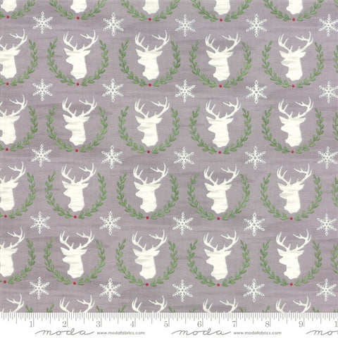 Moda Hearthside Holiday 19832 12 Slate Laurel Deer By The Yard