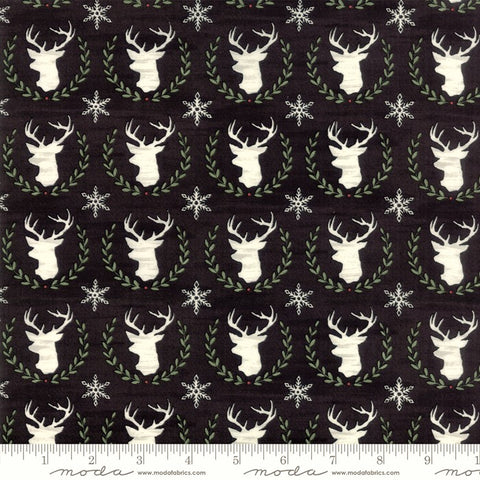 Moda Hearthside Holiday 19832 13 Charcoal Black Laurel Deer By The Yard