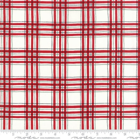 Moda Hearthside Holiday 19835 12 Red Winter Plaid By The Yard