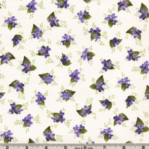 Robert Kaufman Elizabeth 19899 14 Natural Violets By The Yard
