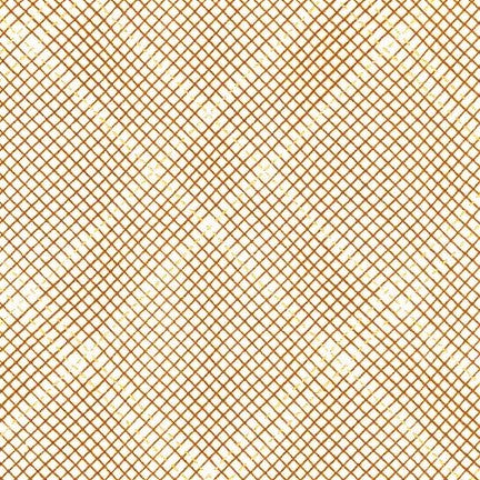 Kaufman Collection CF Metallic Neutral Colorstory 19932 408 Roasted Pecan Grid Plaid By The Yard