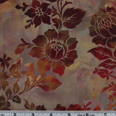 In The Beginning Fabrics Diaphanous 1ENC 2 Chestnut Night Bloom By The Yard