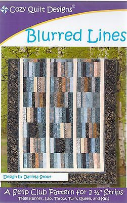 BLURRED LINES - Cozy Quilt Designs Pattern DIGITAL DOWNLOAD