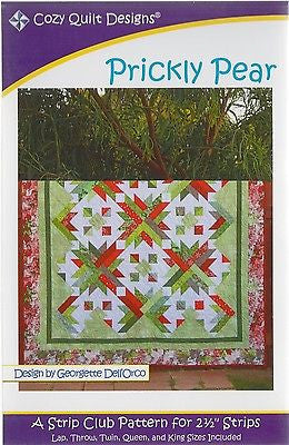 Cozy Quilt Designs PRICKLY PEAR Pattern for 2 1/2 inch Strips