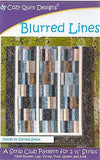 BLURRED LINES - Cozy Quilt Designs Pattern
