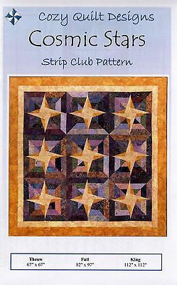 Cozy Quilt Designs Cosmic Stars Pattern for 2 1/2 inch Strips