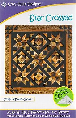 Cozy Quilt Designs STAR CROSSED Pattern for 2 1/2 inch Strips