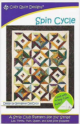 Cozy Quilt Designs Spin Cycle Pattern for 2 1/2 inch Strips