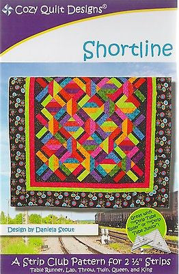 Cozy Quilt Designs Shortline Pattern for 2 1/2 inch Strips