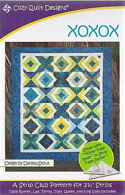 Cozy Quilt Designs XOXOXO Pattern for 2 1/2 inch Strips