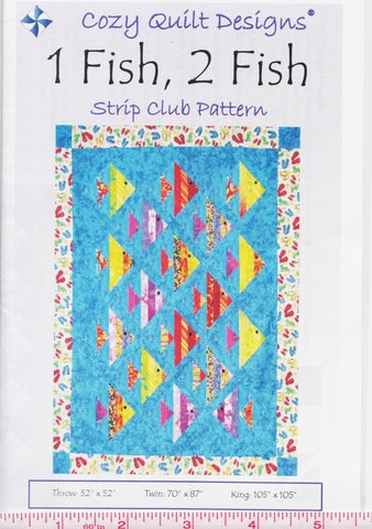 Cozy Quilt Design Strip Pattern - 1 FISH 2 FISH
