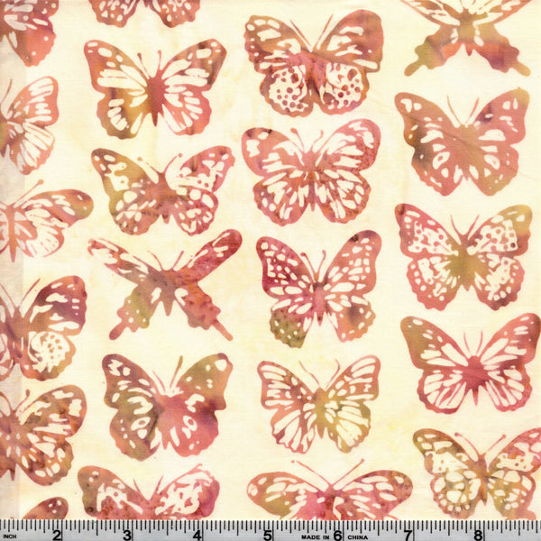 Hoffman Bali Batiks 2001 500 Gardenia Butterflies By The Yard